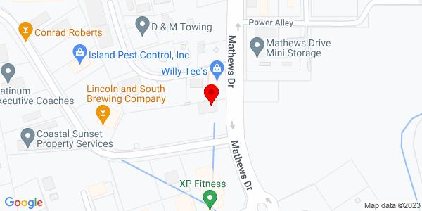 Google Map of +132+Matthews+Drive+Hilton+Head+Island+SC+29926