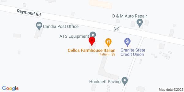 Google Map of +133+Raymond+Road+Candia+NH+03034