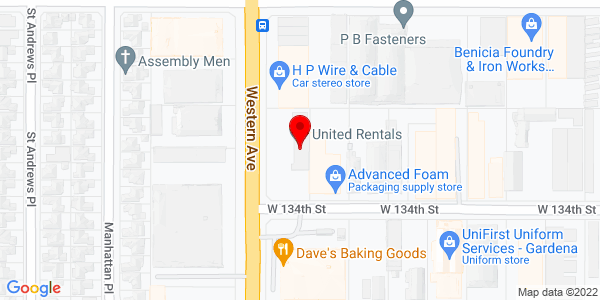 Google Map of +13316+South+Western+A+Gardena+CA+90249