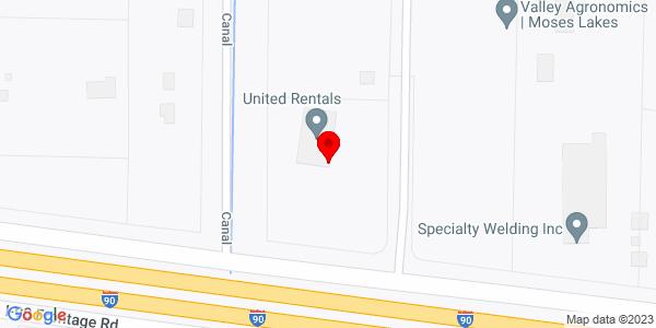 Google Map of +13558+North+Frontage+Road+Moses+Lake+WA+98837