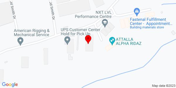 Google Map of +140+Industrial+Drive+Attalla+AL+35954