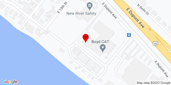 Google Map of +1400+E+Dupont+Avenue+Belle+WV+25015