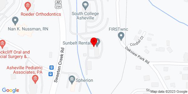 Google Map of +141+Sweeten+Creek+Road+Asheville+NC+28803