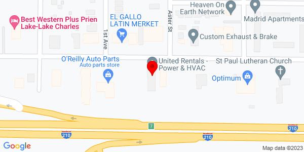 Google Map of +1410+E+Prien+Lake+Rd+Lake+Charles+LA+70601
