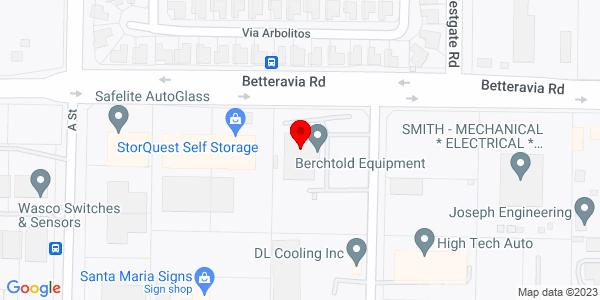 Google Map of +1410+West+Betteravia+Road+Santa+Maria+CA+93455