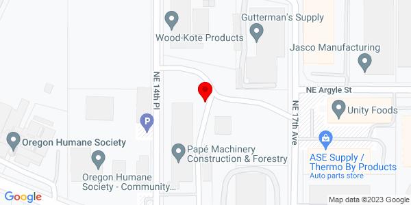 Google Map of +1425+NE+Columbia+Blvd+Portland+OR+97211