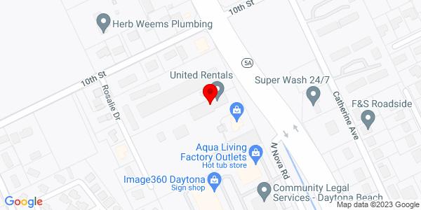 Google Map of +1472+North+Nova+Road+Holly+Hill+FL+32117