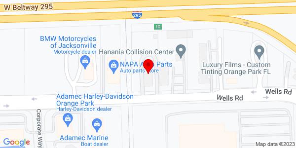 Google Map of +1495+Wells+Road+Orange+Park+%28Jacksonville%29+FL+32073