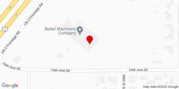Google Map of +1505+Highway+2%2C+Bypass+E+Minot+ND+58701