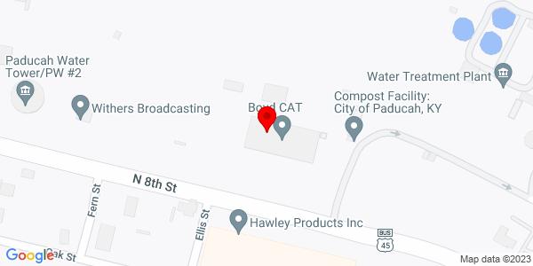 Google Map of +1600+North+8th+Street+Paducah+KY+42001