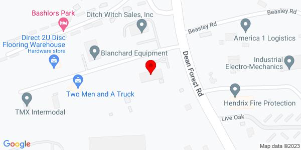 Google Map of +1627+Dean+Forest+Road+Savannah+GA+31408
