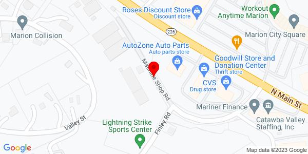 Google Map of +168+Machine+Shop+Rd+Marion+NC+28752