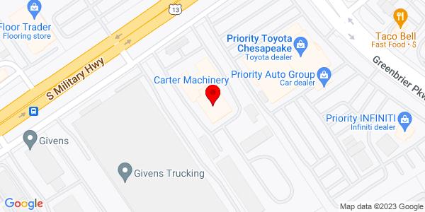 Google Map of +1712+S+Military+Hwy+Chesapeake+VA+23320