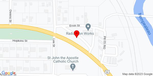 Google Map of +18025+Ervin+Street+Whitehall+WI+54773