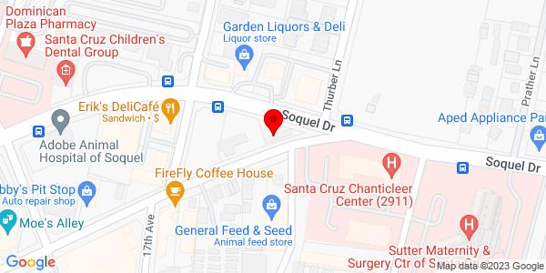 Google Map of +1835+Soquel+Dr.+Santa+Cruz+CA+95065
