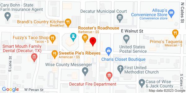 Google Map of +1841+N+US+Hwy+286+Decatur+TX+76234