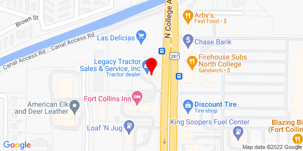 Google Map of +1845+North+College+Avenue+Fort+Collins+CO+80524