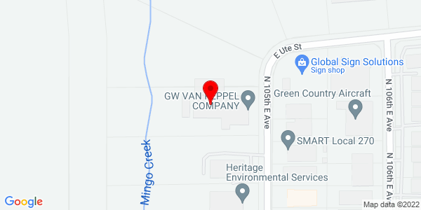 Google Map of +1876+N.+105th+East+Avenue+Tulsa+OK+74116