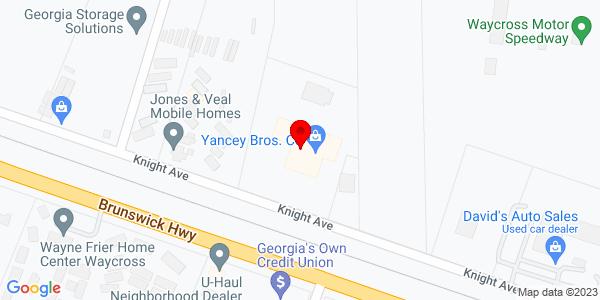 Google Map of +1899+Knight+Avenue+Waycross+GA+31501