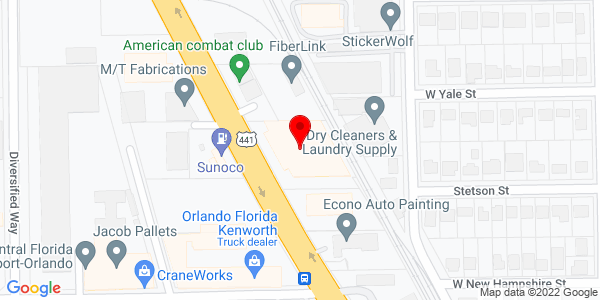 Google Map of +1915+N+Orange+Blossom+Trail+Orlando+FL+32804