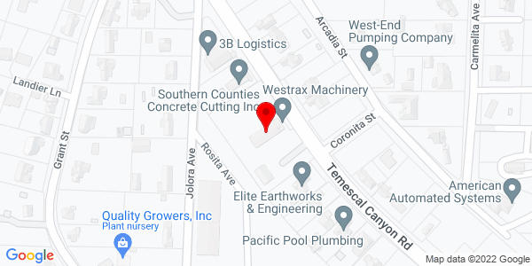 Google Map of +19885+Temescal+Canyon+Road+Corona+CA+92881