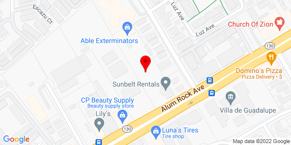 Google Map of +2101+Alum+Rock+Avenue+San+Jose+CA+95116