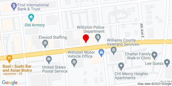 Google Map of +221+Niehenke+Street+Williston+ND+58801