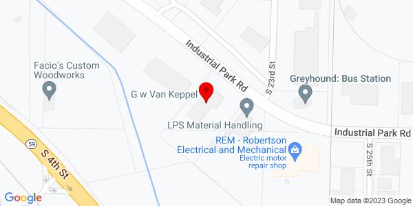 Google Map of +2218+Industrial+Park+Road+Van+Buren+AR+72956