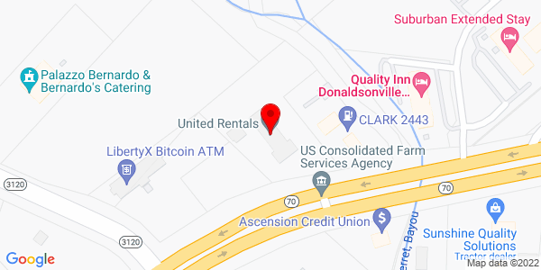Google Map of +2235+Hwy+70++Po+Box+665+Donaldsonville+LA+70346