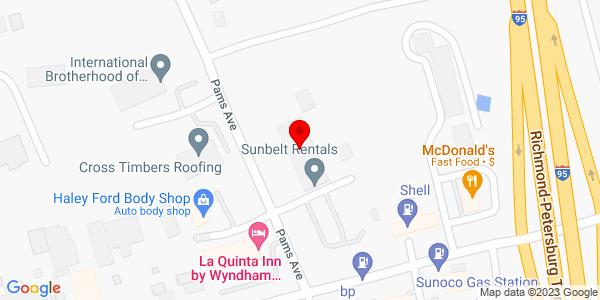 Google Map of +2332+Willis+Road+Richmond+VA+23237