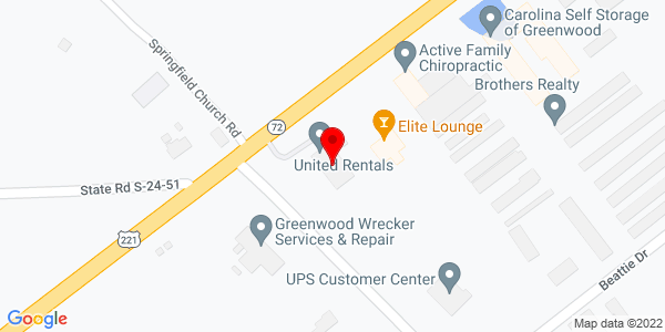 Google Map of +2402+Highway+72+-+221+East+Greenwood+SC+29648