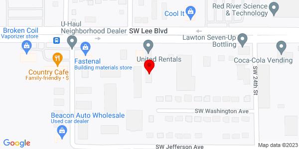 Google Map of +2420+S.W.+Lee+Blvd.+Lawton+OK+73505