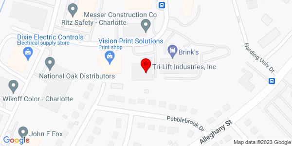 Google Map of +2421+Executive+Street+Charlotte+NC+28208