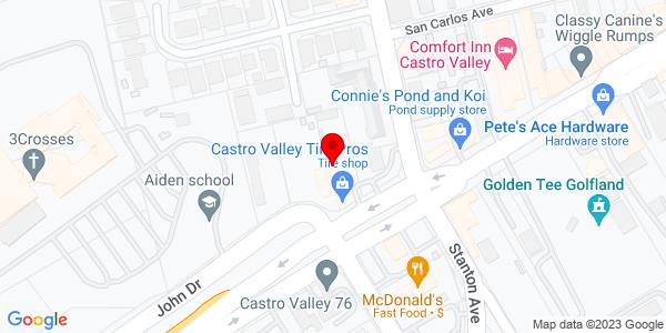 Google Map of +2450+Castro+Valley+Bl+Castro+Valley+CA+94546