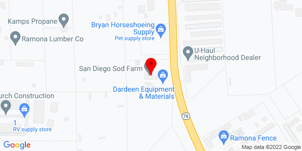Google Map of +254+Pine+St.+%28+Hwy+78%29+Ramona+CA+92065