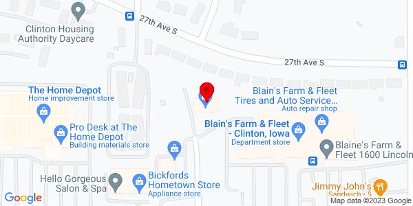 Google Map of +2700+South+17Th+Street+Clinton+IA+52732