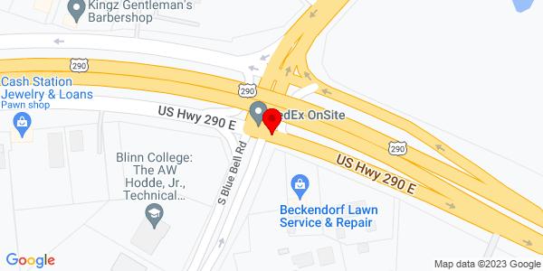 Google Map of +2700+West+Highway+290+Brenham+TX+77833