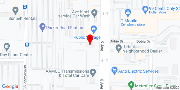 Google Map of +2727+Avenue+K+Plano+TX+75074