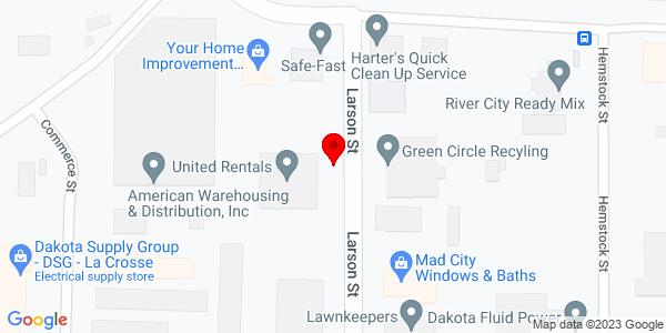 Google Map of +2809+Larson+Street+La+Crosse+WI+54603