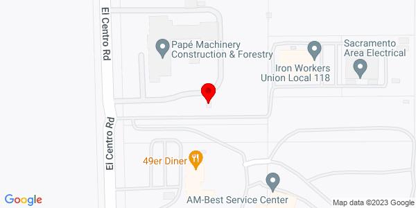 Google Map of +2850+El+Centro+Road+Sacramento+CA+95833