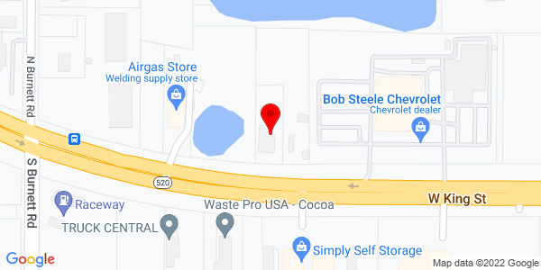 Google Map of +2850+W+State+Road+520+Cocoa+FL+32926