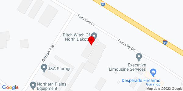 Google Map of +2921+Twin+City+Drive+Mandan+ND+58554