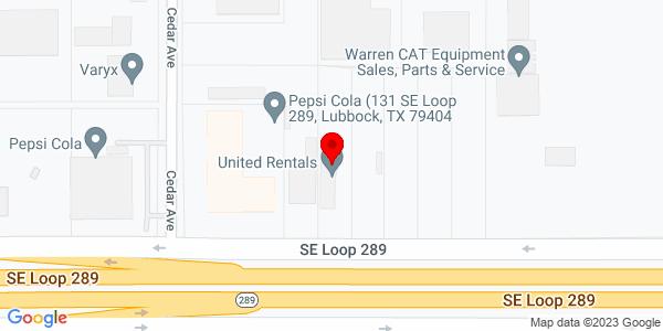 Google Map of +317+Southeast+Loop+289+Lubbock+TX+79404