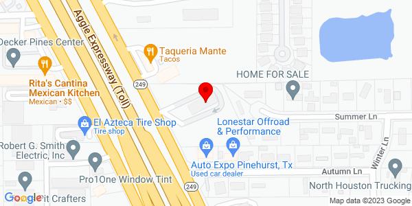 Google Map of +32000+State+Highway+249+Pinehurst+TX+77362