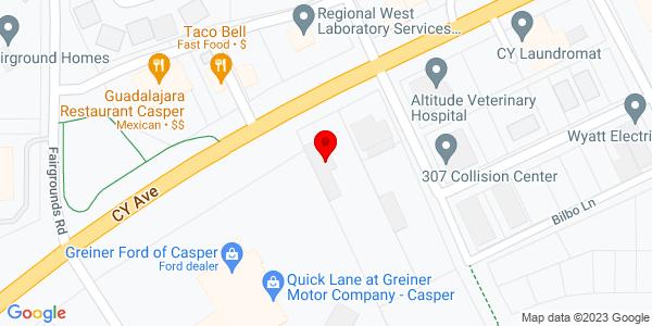 Google Map of +3233+Cy+Avenue+Casper+WY+82604