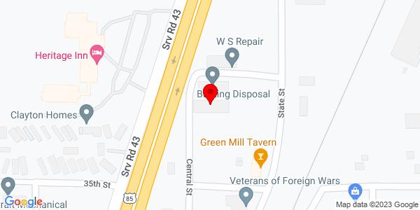 Google Map of +3333+Central+St+Evans+CO+80620