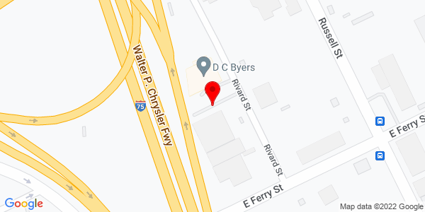 Google Map of +3575+East+Palmer+Aven+Detroit+MI+48211