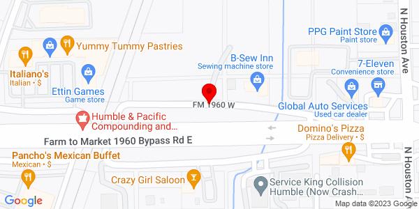 Google Map of +3595+Fm+1960W+Humble+TX+77338