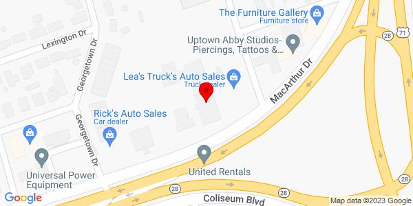 Google Map of +3612+Coliseum+Blvd+Alexandria+LA+71303