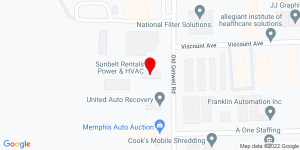 Google Map of +3681+Old+Getwell+Road+Memphis+TN+38118